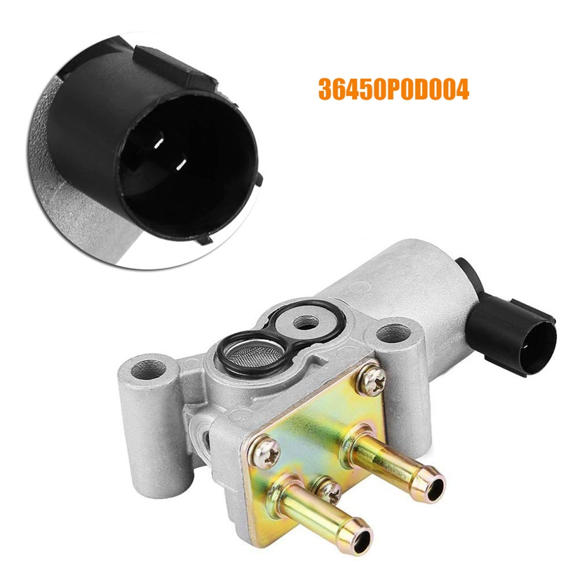 Black Car Idle Air Control Valve IAC 36450P0D004 for CR-V 2.0L 1997-2001 1.5L 1.6L 1993-1996,Silver