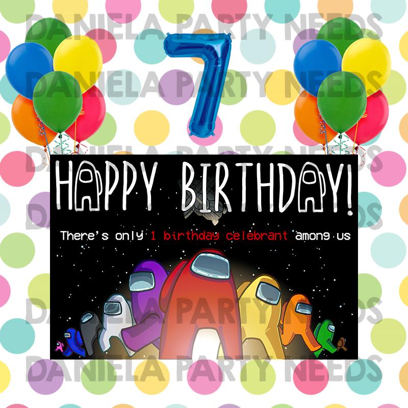 Among Us Birthday Party Theme Set A Among Us Bday Party Theme Decoration Set A Design 2 Lazada Ph