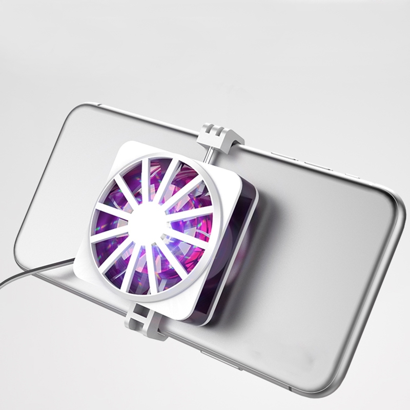 Bảng giá Mobile Phone Cooler Universal Gaming Phone Cooler Portable RGB Fan Holder Heat Sink Anchor Game Radiator Phong Vũ