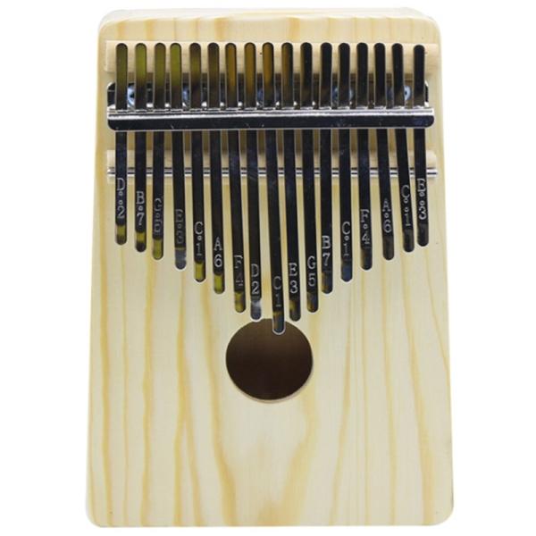 17 Key Kalimba Solid Thumb Finger Piano Kalimba Play with Guitar