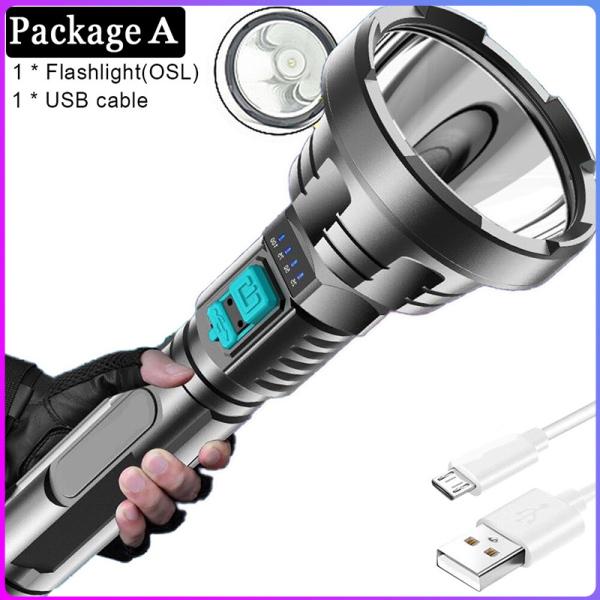 【Hàng Có Sẵn】winstong Đèn Pin Chính Hãng, Đèn Pin LED Đa Năng Cầm Tay Ngoài Trời Gia Dụng Siêu Sáng Sạc Được Cổng USB Mạnh
