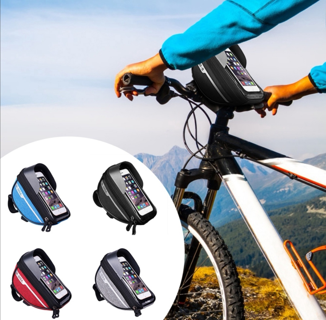 Bike Handlebar Bag Bicycle Front Cell Phone Holder Case MTB Cycle Accessories
