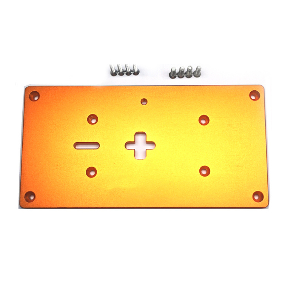 Aluminum Router Table Insert Plate with Fixing Screws Electric Jig Saw Flip Board for Woodworking Workbenches