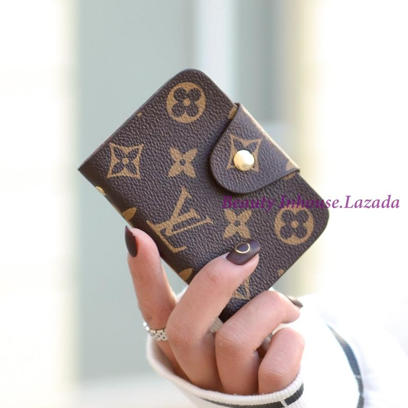 d04d850e6f34 Beauty Inhouse-Fashion Women Credit Card Holder Business ID Student Card  Case Pu Leather Vintage