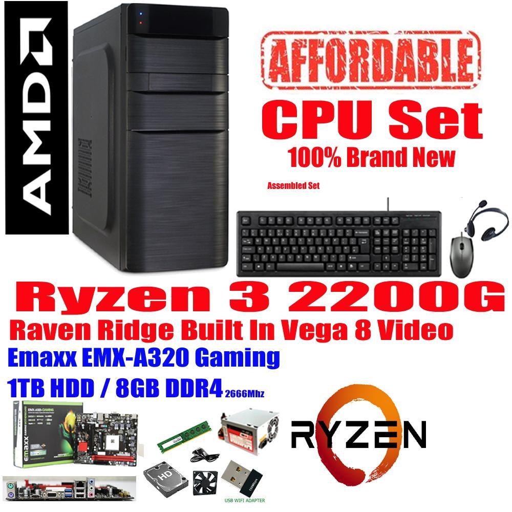 Gigabyte CPU 240GB SSD  AMD RYZEN 3 2200G Quad-Core 3 5 GHz