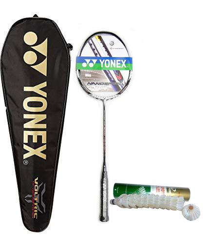 07c65b5eedc Abby Shi Free 12pcs Shuttlecock (SINGLE)set of 1 Nano Carbon Fiber  Badminton Racket