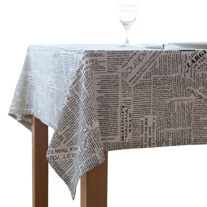 6cbb97454 Retro Newspapers Pattern Decorative Table Cloth Cotton Linen Tablecloth  Dining Table Cover For Kitchen Home Decor