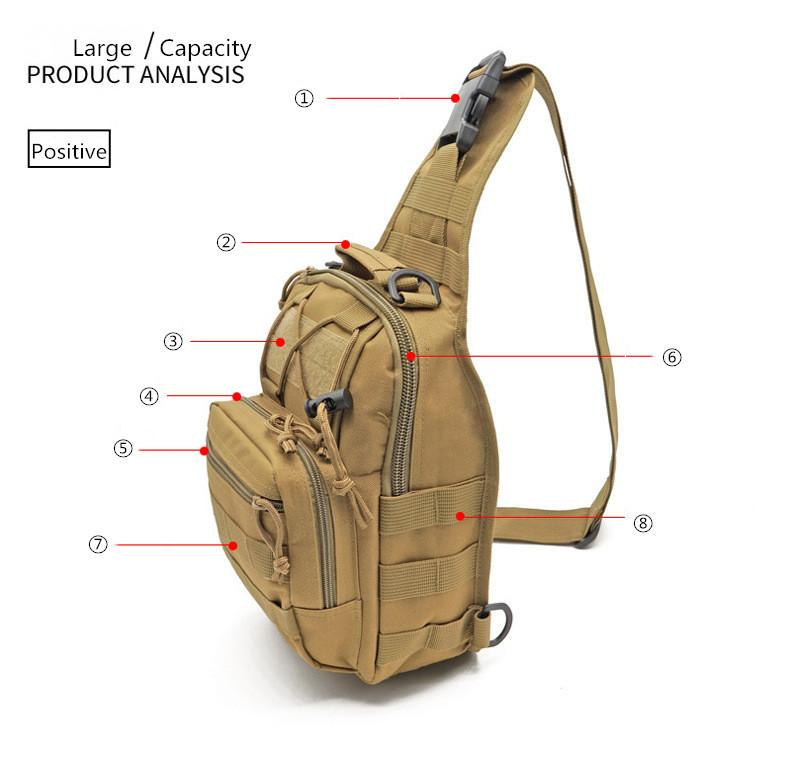 Sports & Entertainment Reliable Military Tactical Nylon Chest Bag Camping Men Equipment Outdoors Wading Chest Pack Cross Body Sling Single Shoulder Bags 50% OFF Camping & Hiking