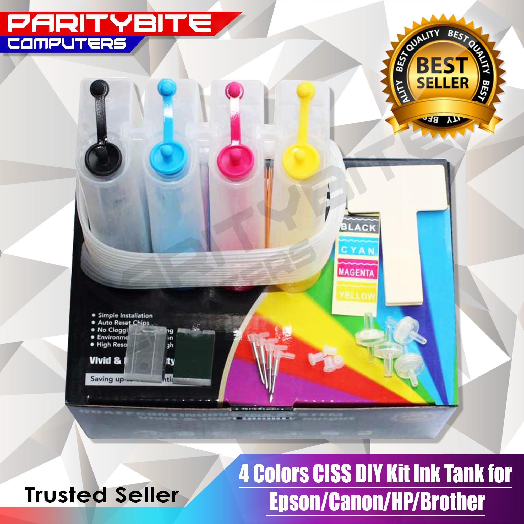 4 Colors Ciss Diy Kit Ink Tank For Epson/canon/hp/brother By Paritybite Computers.