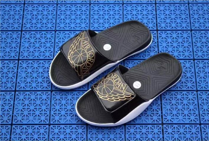 new style f240a 8bc4c Jordan Sandals 2018 New for Men s Hydro   Slide AA2517-023 (black,red