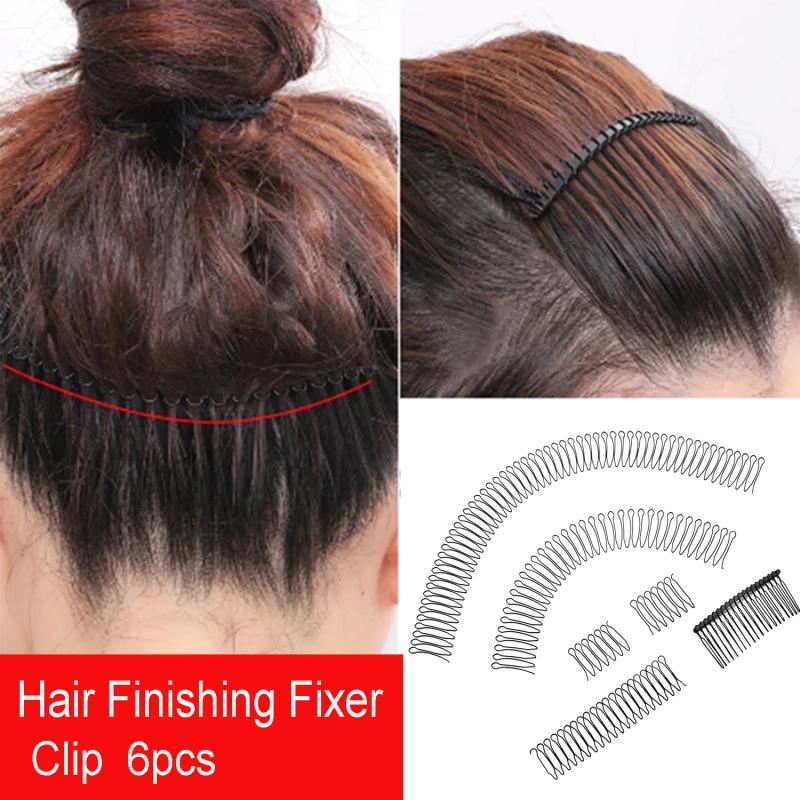 ficcr737 Dễ dàng sử dụng răng để giữ thêm kẹp Hoàn thiện cho bé Chỉnh sửa tóc Lược cố định Kiểu tóc cố định hình chữ U giá rẻ