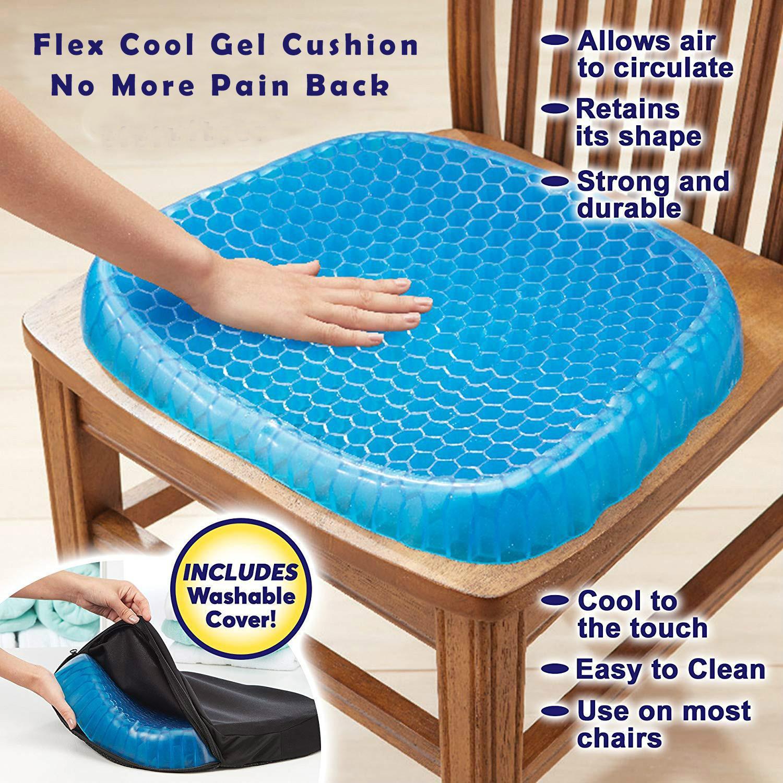 Gel Cushion Gel Egg Cushion Gel Sit Cushion Honeycomb Car Sofa Cushion Fashion 3d Ice Pad Elastic Cervical Health Care Pain Pad Non Slip Soft And