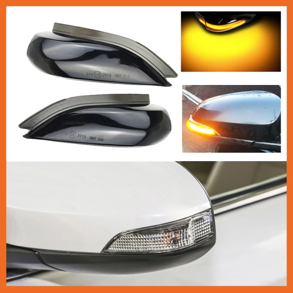 Car LED Dynamic Rearview Mirror Light Turn Signal Indicator for Toyota Corolla Yaris XP130 Auris E180 Camry Prius