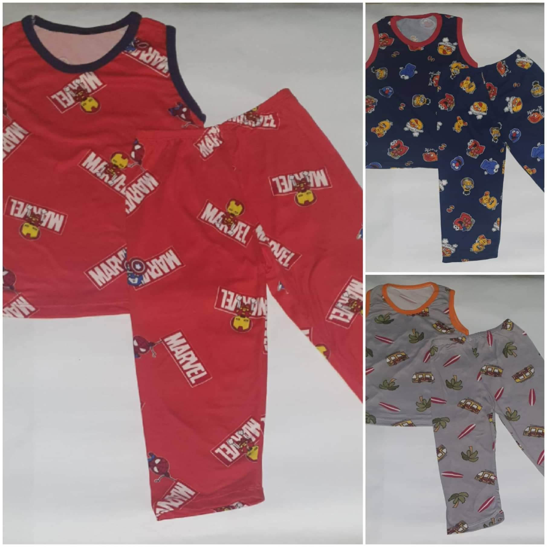 1 Pair Boy Kids Pajama And Tops By Aacj Shop