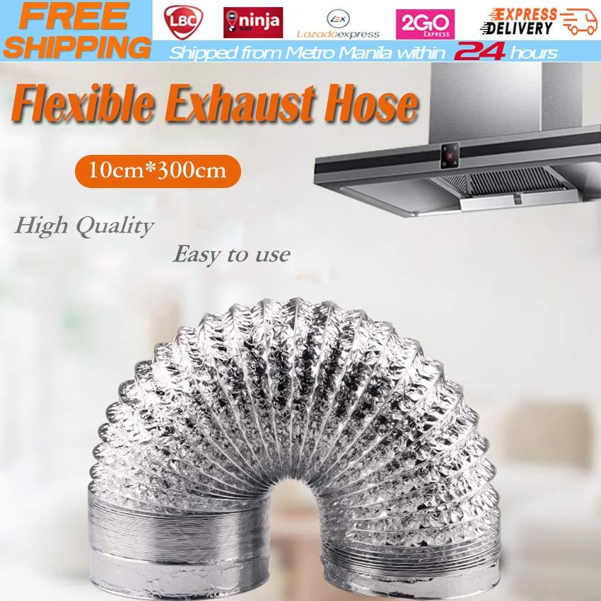 3M 100mm 150mm Aluminum Tube Air Ventilation Pipe Hose Flexible Exhaust  Duct Fresh Air System Vent Bathroom Foil Hose Flexible Exhaust Hose  Ventilator
