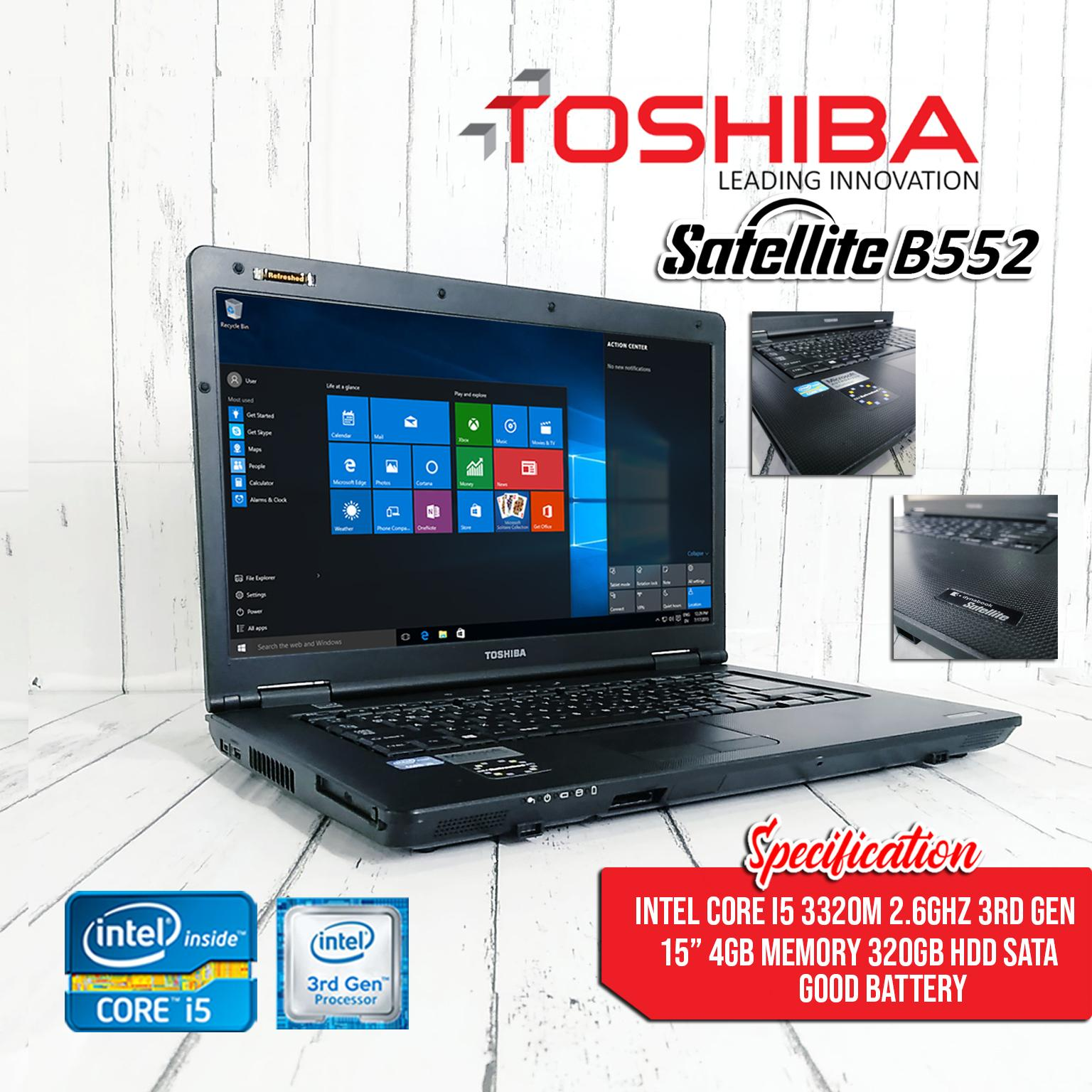 LAPTOP Toshiba Satelite B552 core i5 3320 2 6ghz (3rd gen) 4GB 320GB /  LAPTOP on sale / student / online job [NO WINDOWS/OS]