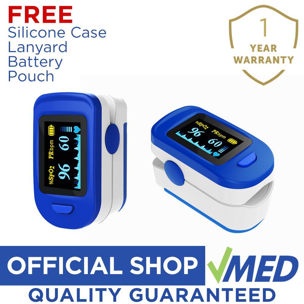 Prohealth Care Pulse Oximeter (Blue) w/ Pouch, Silicone Case & Lanyard