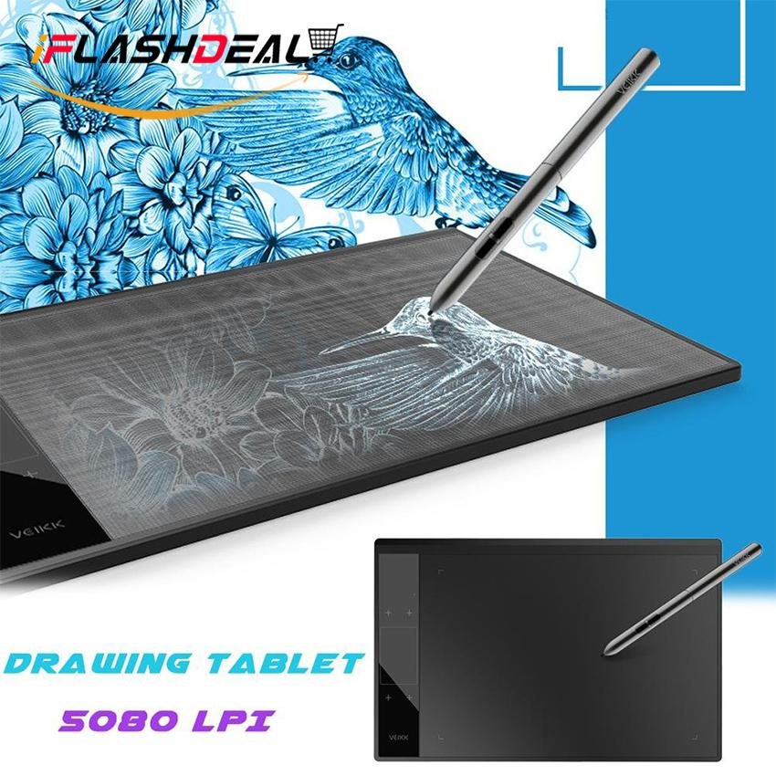 iFlashDeal Graphics Drawing Tablet Board Drawing Pad Digital Drawing Pen Tablet with No-charging