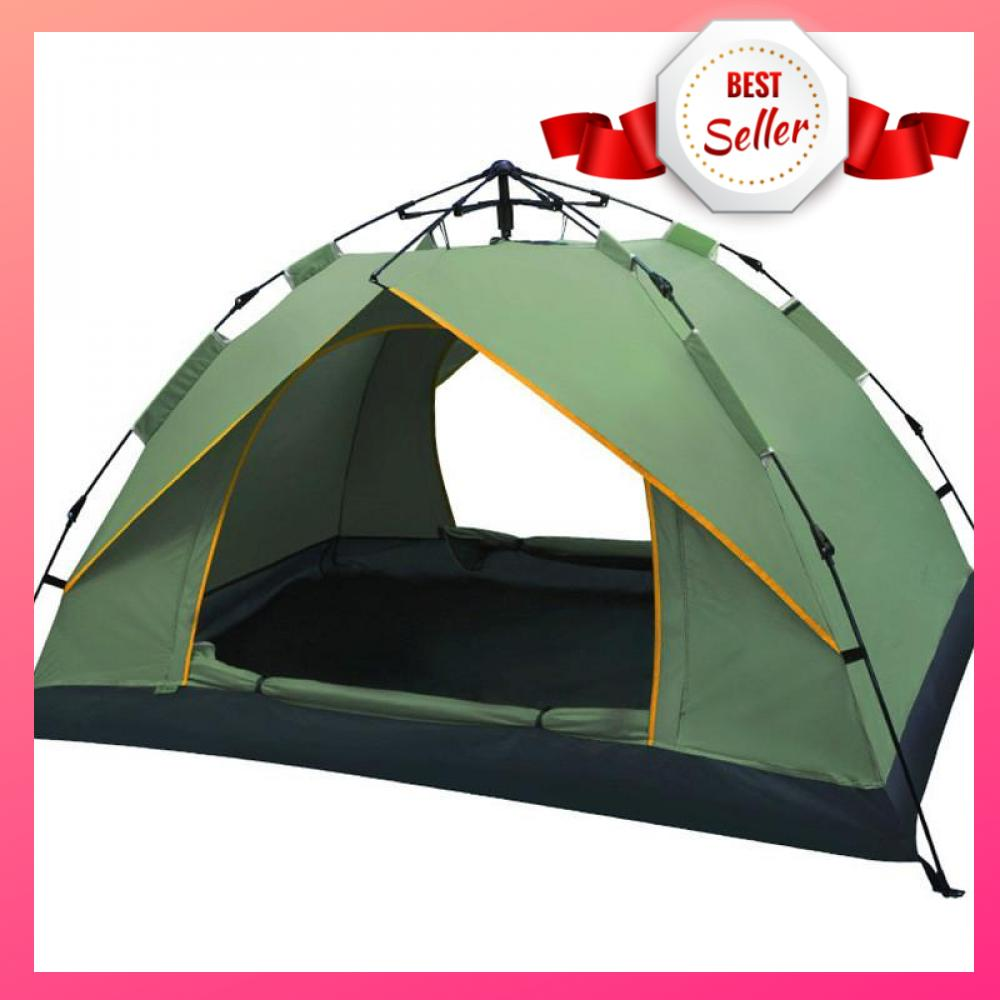 Waterproof Automatic Outdoor 4 Person Double Layer Instant Camping Family  Tent (Green)