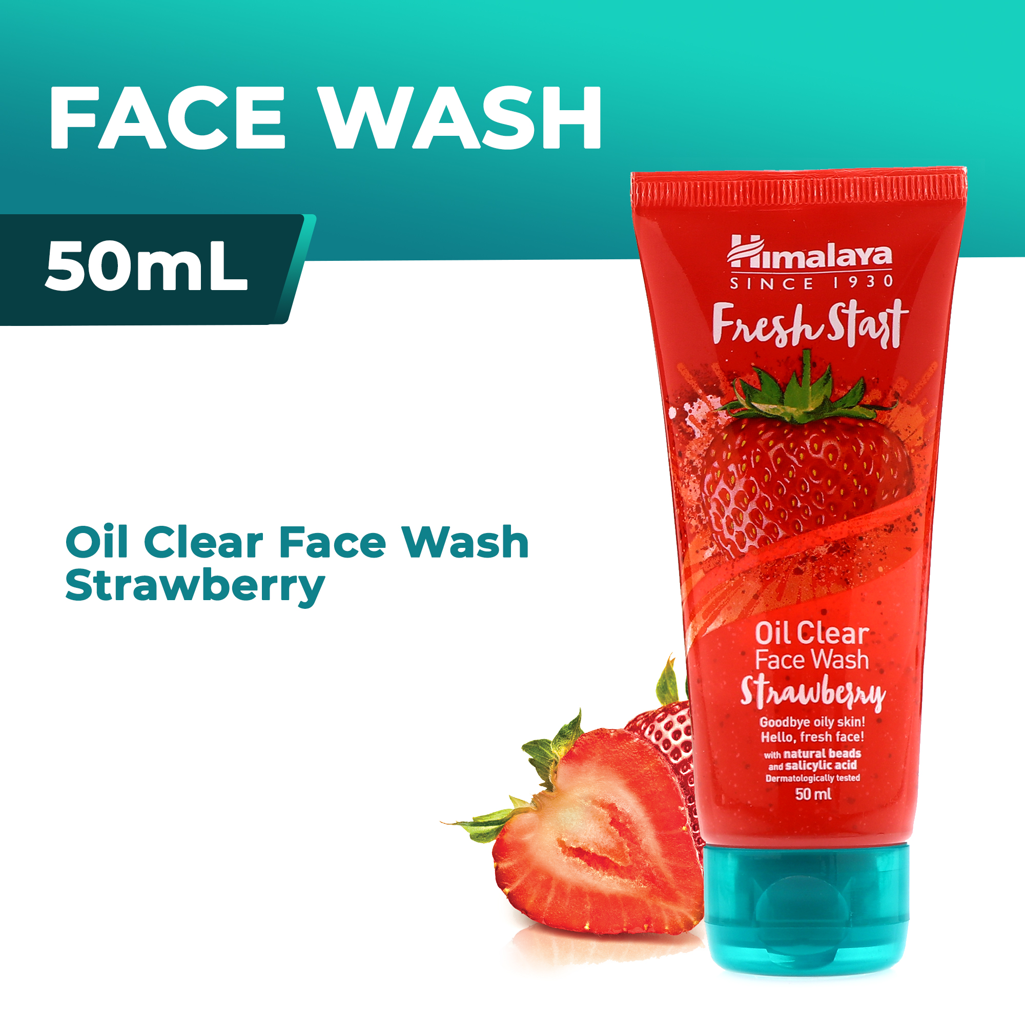 Himalaya FRESH START Oil Clear Face Wash Strawberry 50ml | Lazada PH