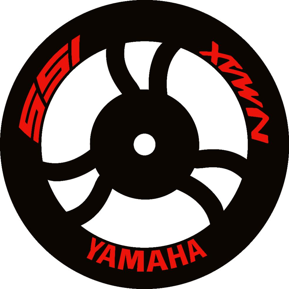 (Sticker Only) Yamaha Nmax Inner Mags/Rim Decal/Sticker (pair wheels)