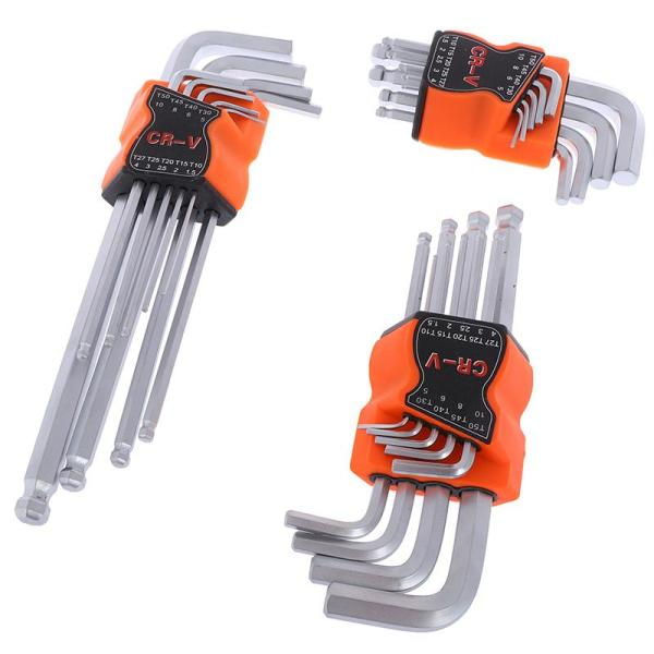 QIA L wrench ball end long arm hex key allen wrench set powerful repair tool
