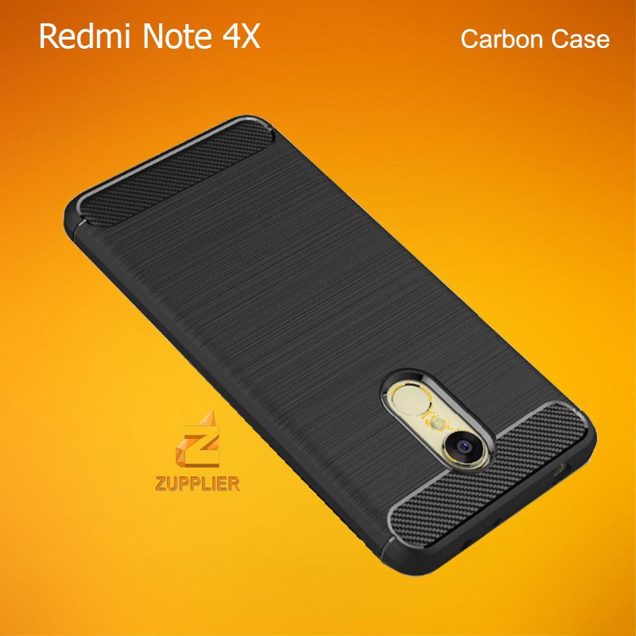 Xiaomi Redmi Note 4X Case Carbon Fiber Brushed Soft TPU