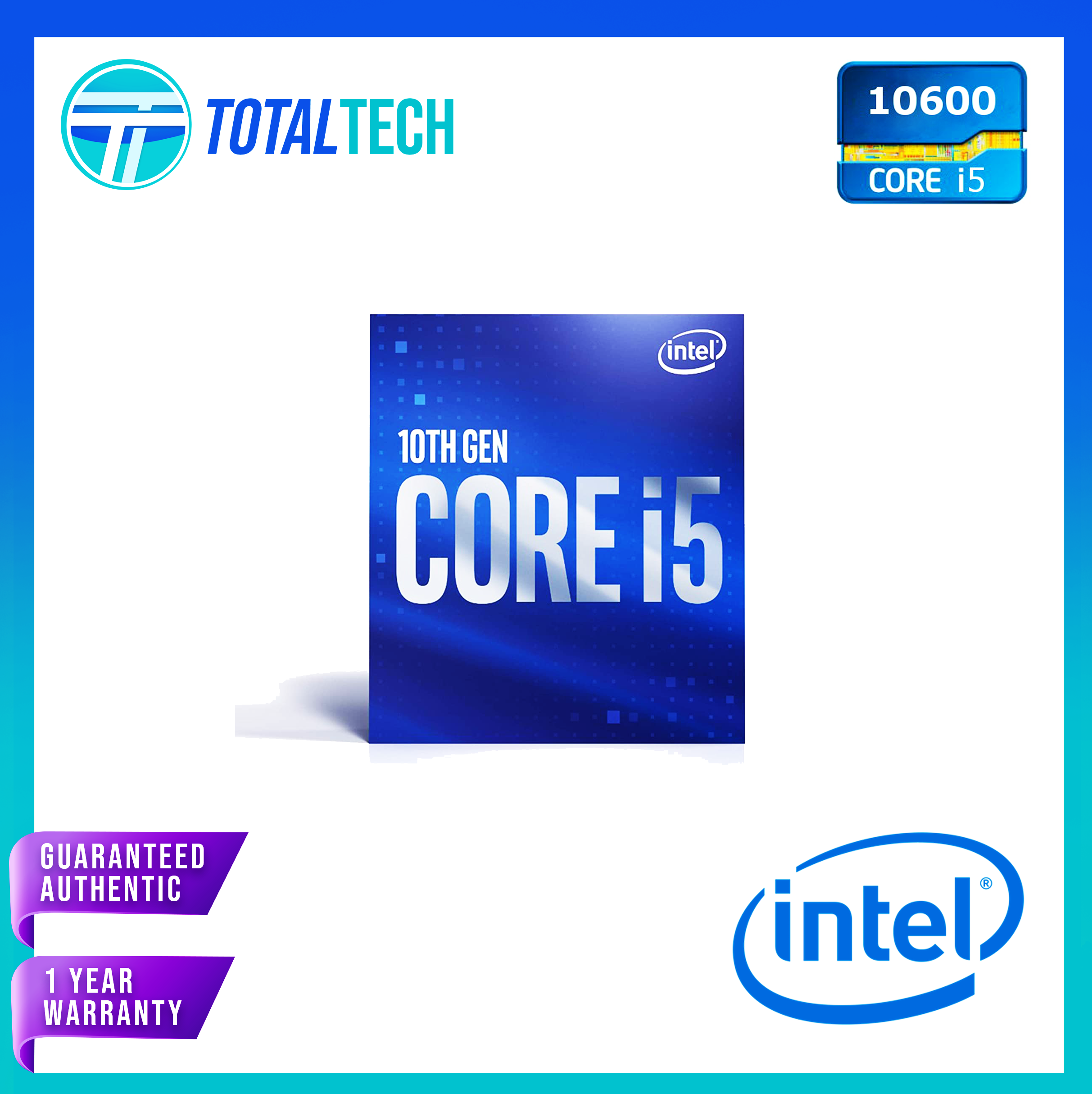Intel 400 Series chipset 65W Intel Core i5-10600 Desktop Processor 6 Cores up to 4.8 GHz LGA1200