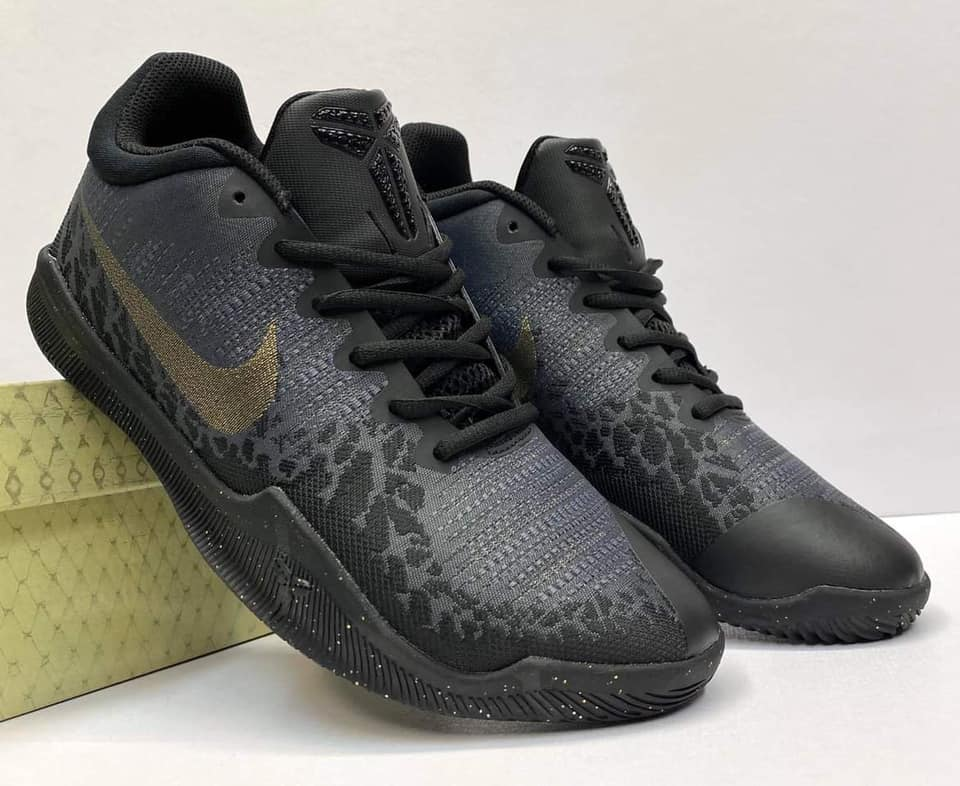 black and gold athletic shoes