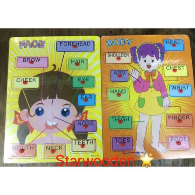 Girl Face And Body Part By Starwooden Toy Shop.