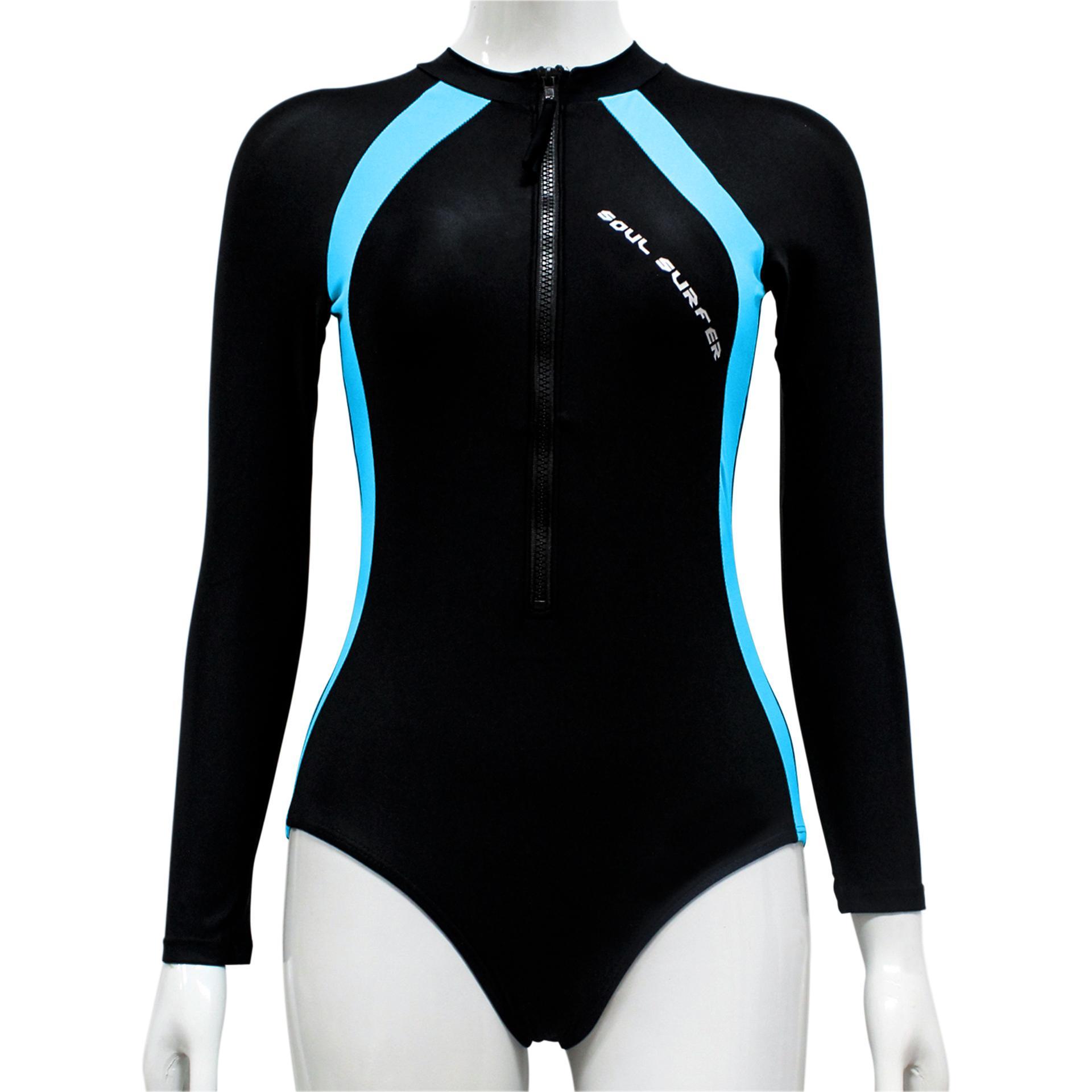 1893ee16ef79 Misfit Swim DSN# MFR001 Women's Overall Long Sleeve Sun-Proof One Piece  Rash Guard