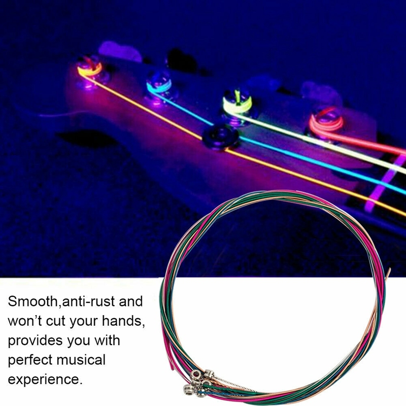 6Pcs/Set Acoustic Guitar String Replacement Steel String for Musical Instruments Electric Bass Guitar Accessory Malaysia