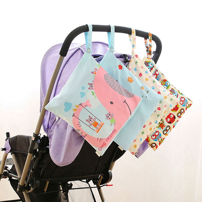Diapers Beach Dirty Gym Clothes Waterproof Wet Bag Reusable Hamper Storage Bucket Bag Trash Can Storage Bag Diaper Storage Bag Dirty Diapers Wet Bag Reusable for Travel Stroller Pool