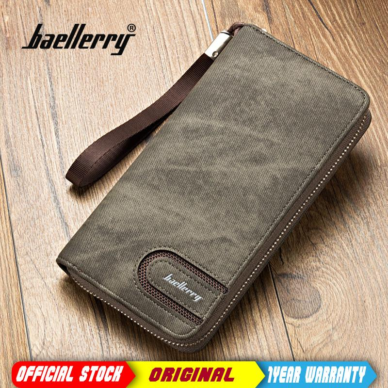Baellerry Men PU Leather Organizer Long Wallet Money Purse Coin Pocket Pochette Male Clutch Hand Bag
