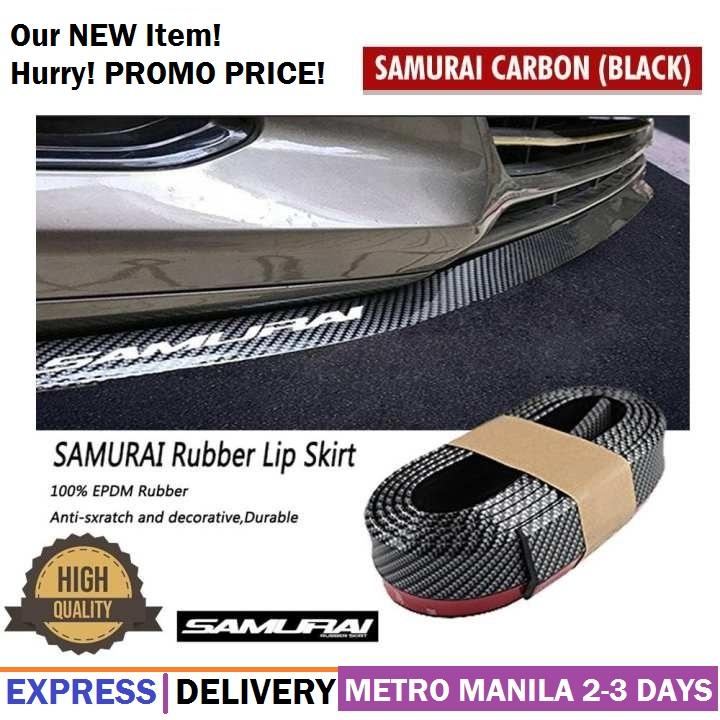 Samurai Rubber Lip Skirt Rubber Chin Protector Carbon Finishes(black) By C. Shenche.