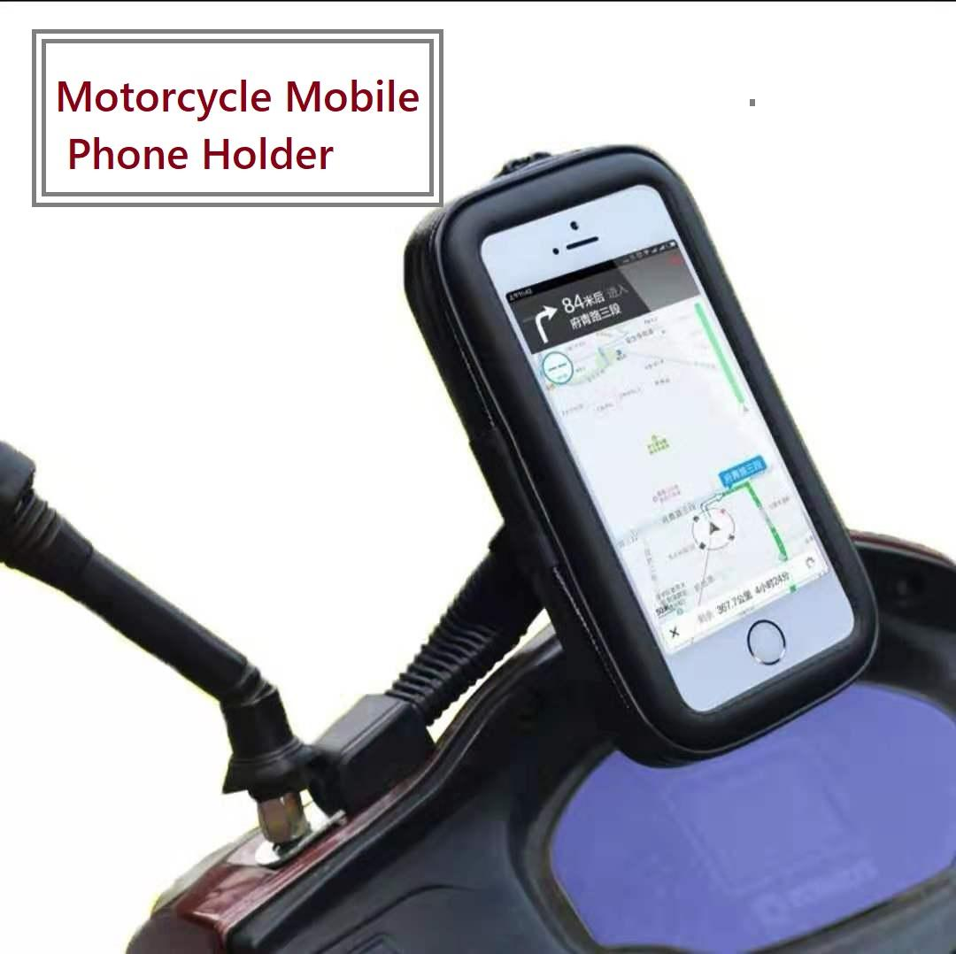brand new 2d992 5615b Motorcycle Bike Handlebar Holder Mount Waterproof Bag Case for Mobile Phone  GPS (L 5.5 inch)