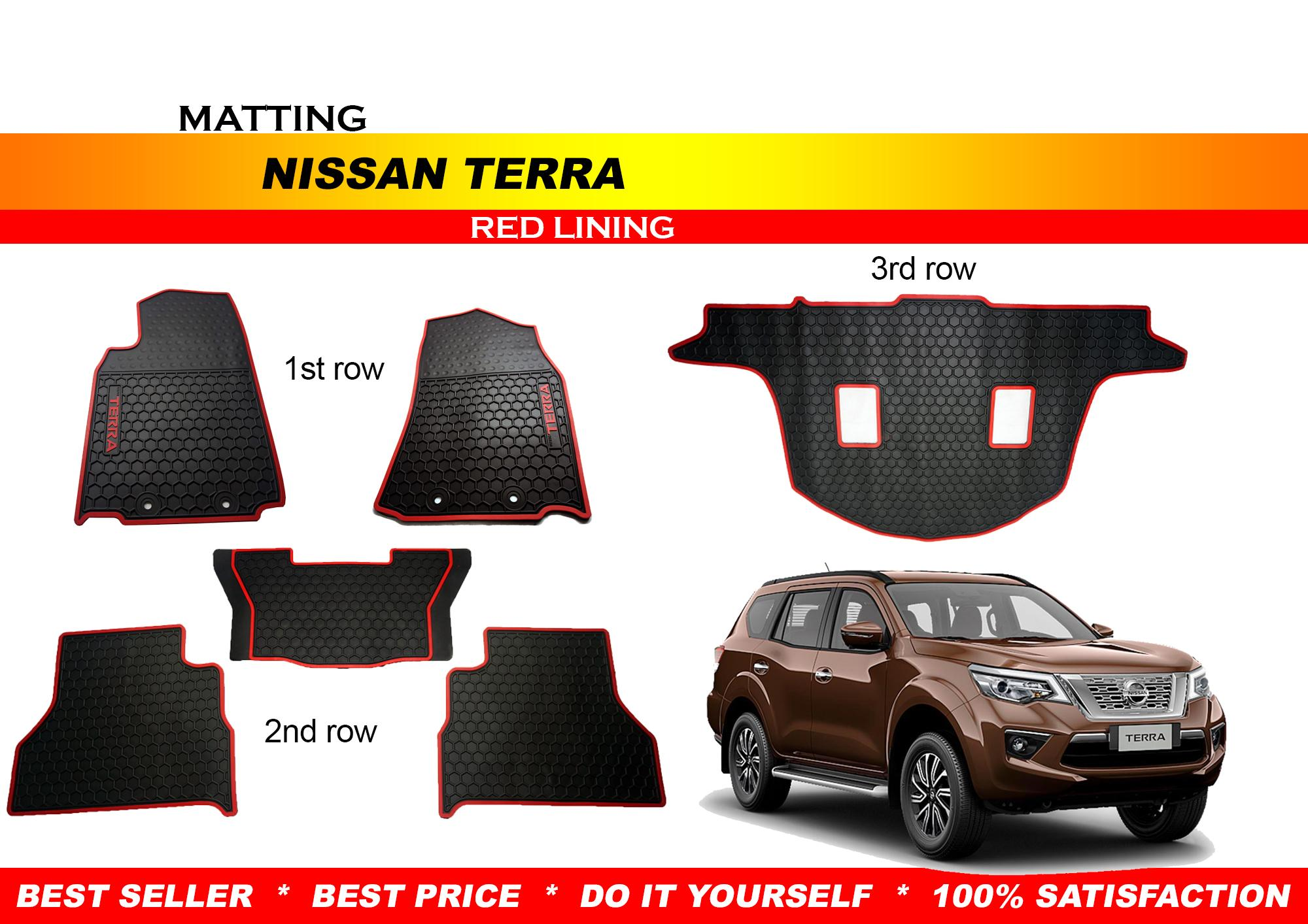 RUBBER MATTING FOR NISSAN TERRA 2018 RED LINING