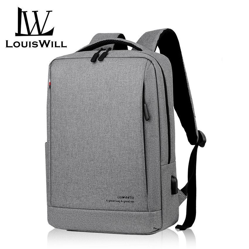 Men Back To School Anti-theft Waterproof Backpack Business Travel Laptop Bag