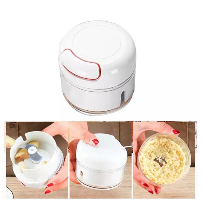 Mini Manual Garlic Masher Ginger Slicer Food Chopper Hand Pull Vegetable Grinder
