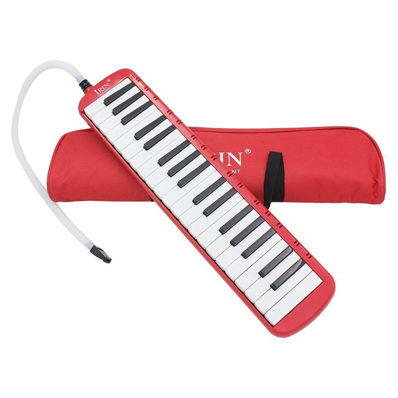 IRIN 1 set 37 Piano Keys Melodica Pianica Musical Instrument with Carrying Bag for Students Beginners Kids Red Malaysia