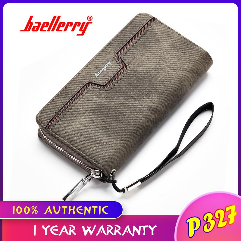 6d036dc759 Baellerry Fashion Men PU Leather Organizer Long Wallet Money Coin Purse  Pocket Pochette Clutch Hand Bag