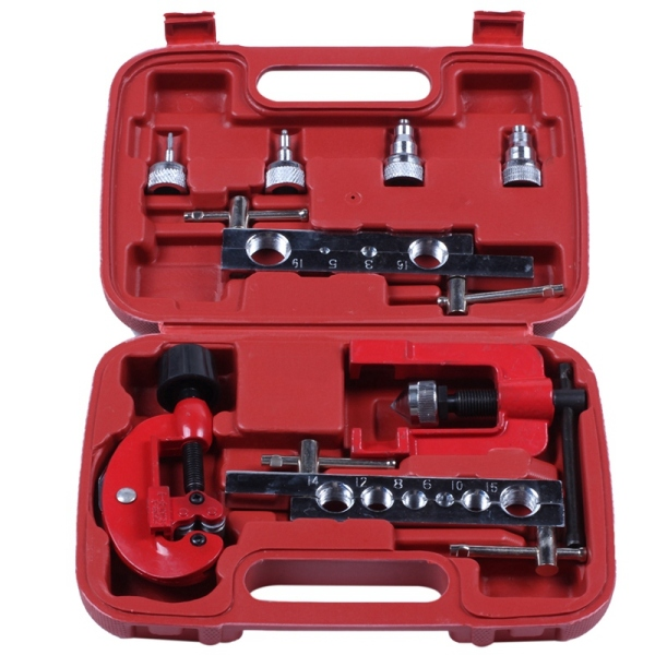 8pcs 3-19mm Tube Cutter Flaring Tool Kit Manual Pipe Expander Metric/Inch Expansion Mouthparts Device For Copper Tube Flaring Tool