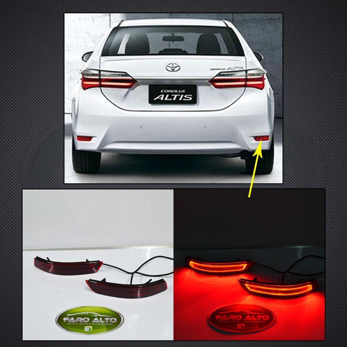 Toyota Altis 2013 - 2016 Rear Bumper Led By Faro Alto Auto-Lights & Accessories.