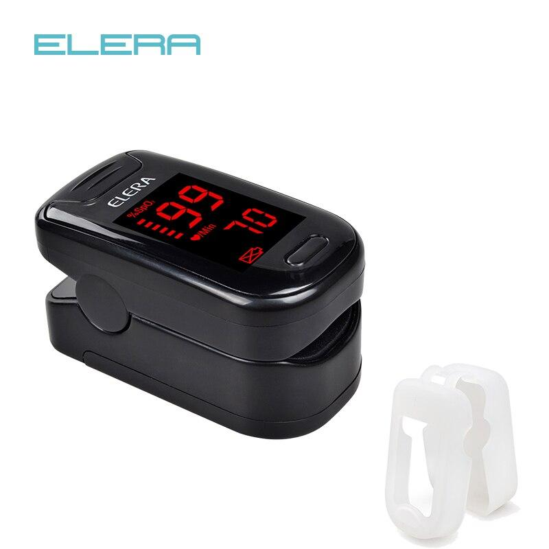 (black with case )ELERA Finger Pulse Oximeter Oximetro de dedo Portable Blood Oxygen Saturometro SPO2 PR Pulsioximetro Pulsoximeter Oxymeter LLT Store