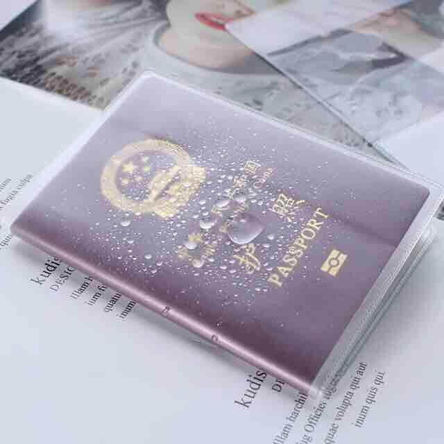 Waterproof Travel Transparent Passport Case Holder By Hello Mr Shao.