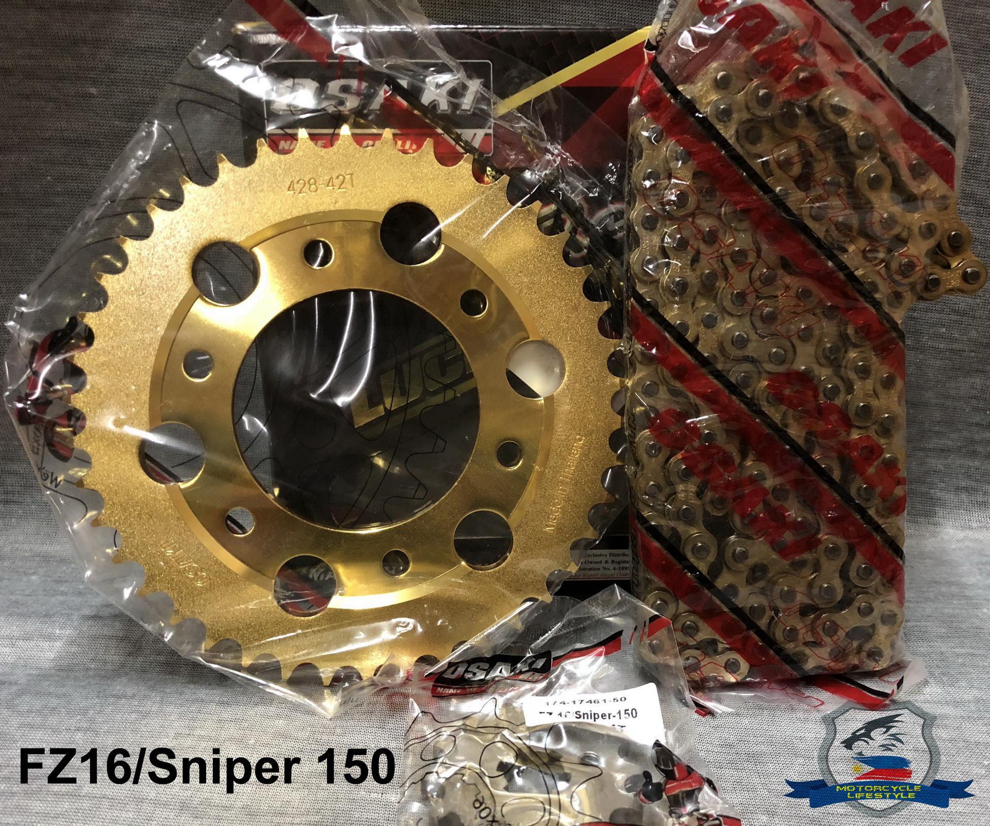 Sniper150/FZ16 Osaki Lucky Gold Chain Set(428-130L 14T-42T)