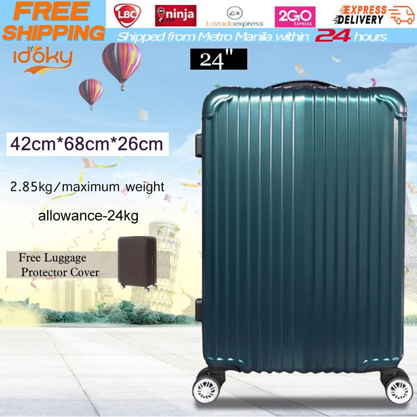 Idoky PH502 Popular 24 Inch Suitcase With【Explosion Proof Zipper】Hard Case  Luggage Bags Travel Bags