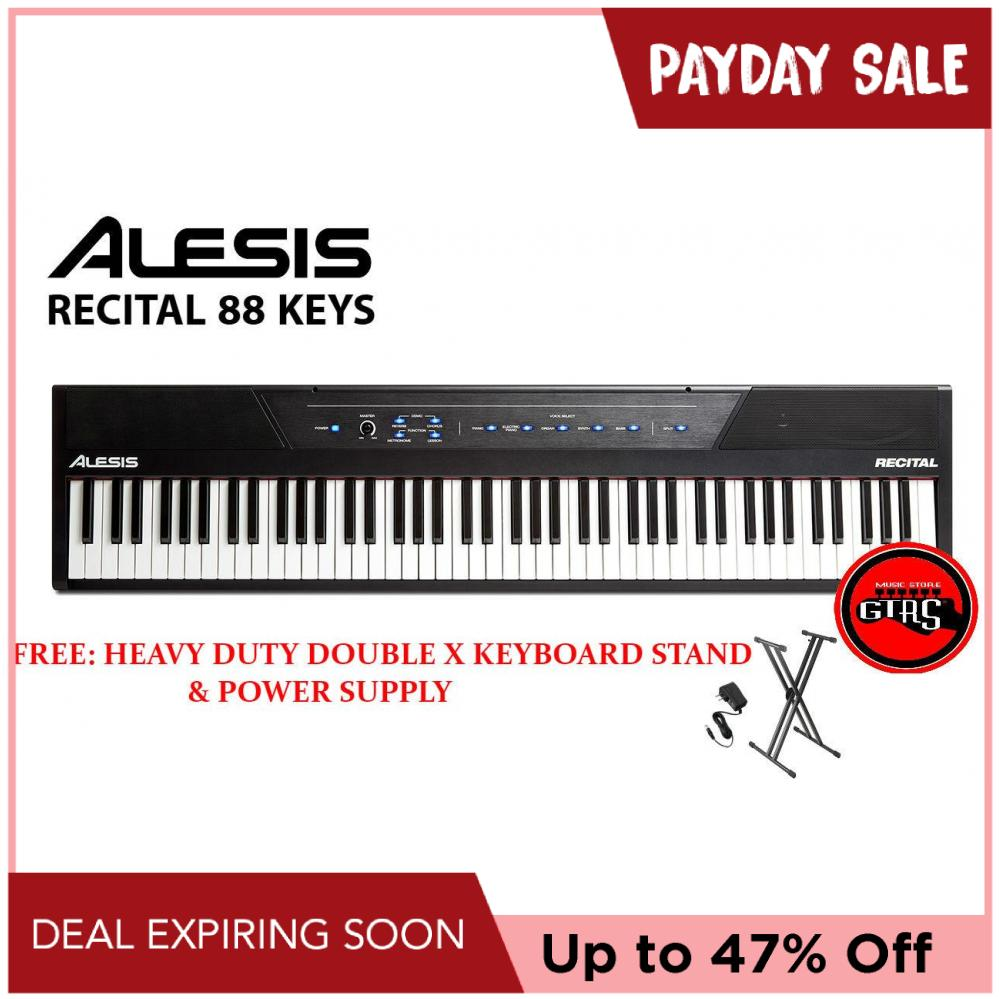 Alesis Recital 88-Key Full-Size Semi-Weighted Digital Piano