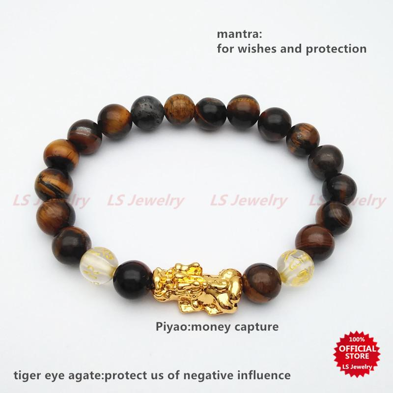 7241474f4 LSjewelry Piyao lucky charm stainless gold plated and stone bracelet for  women B1099