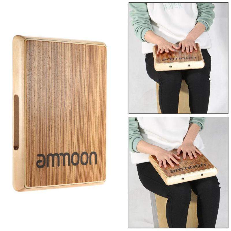 ammoon Compact Travel Cajon Flat Hand Drum Persussion Instrument  31.5 * 24.5 * 4.5cm